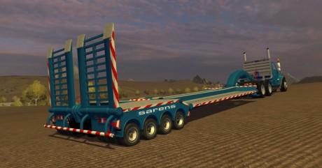 International Day Cab Sarens Edition + Trailer - Farming simulator