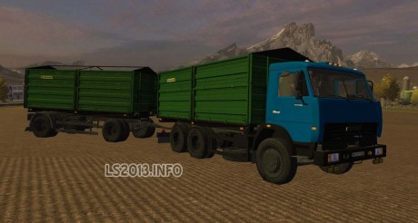 Kamaz 45143 with Nefaz 8560 Trailer 460x246 Kamaz 45143 with Nefaz 8560 Trailer