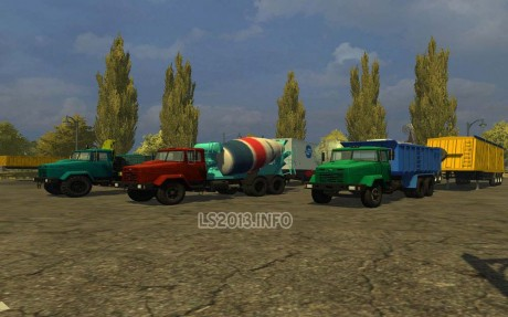 Kraz Trucks and Trailers Pack v 2.1 1 460x287 Kraz Trucks and Trailers Pack v 2.1
