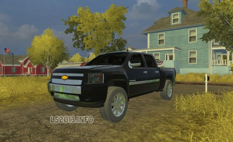 American pickup truck without additional scripts except weight